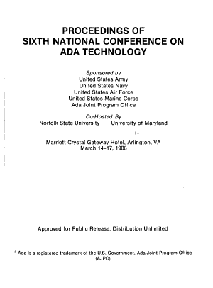 Proceedings of Sixth National Conference on Ada Technology PDF
