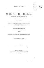 Argument of Mr  C H  Hill  Assistant Attorney general PDF