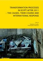 Transformation Processes In Egypt After 2011