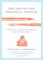 The Art of the Personal Letter PDF