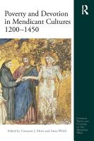Poverty and Devotion in Mendicant Cultures 1200 1450 PDF