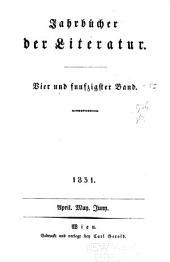 Jahrbücher der literatur: Bände 54-56