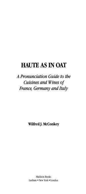 Haute as in Oat