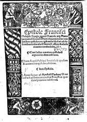 Epistole ... ex toto eiusdem epistolarum volumine selectae ... Etiam Angeli Politiani breviusculae quaedam & amoeniores epistolae. Item L. Annaei Senecae ad apostolum Paulum (etc.) - Hagnau, Henr. Gran 1518