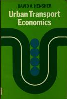Urban Transport Economics PDF