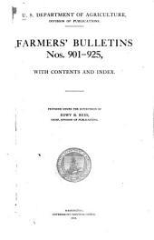 Farmers' Bulletin: Issues 901-925