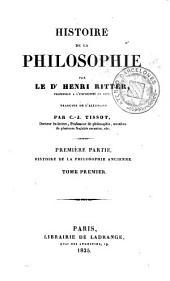 Histoire de la philosophie, 1