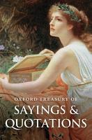 Oxford Treasury of Sayings and Quotations PDF