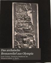 Das archaische Bronzerelief aus Olympia
