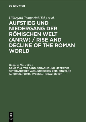 Sprache und Literatur  Literatur der augusteischen Zeit  Einzelne Autoren  Forts   Vergil  Horaz  Ovid   PDF
