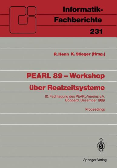 PEARL 89     Workshop   ber Realzeitsysteme PDF