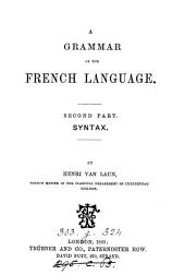 A grammar of the French language: Syntax
