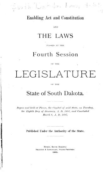 Laws Passed at the Session of the Legislature of the State of South Dakota PDF