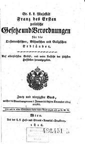Welcher die Verordnungen vom 1. Januar bis letzten December 1814 enthält: Volume 42
