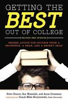 Getting the Best Out of College  Revised and Updated PDF