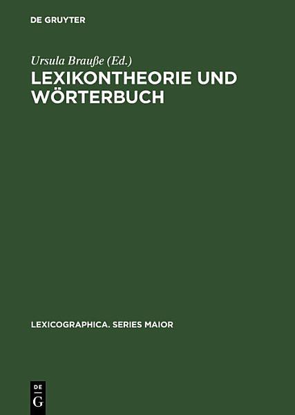 Lexikontheorie Und Worterbuch