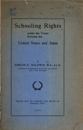 Schooling Rights Under the Treaty Between the United States and Japan