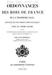 Ordonnances des roys de France de la troisième race: Ordonnances rendues depuis le mois de mai 1497jusqu'au mois de novembre 1514. 1849
