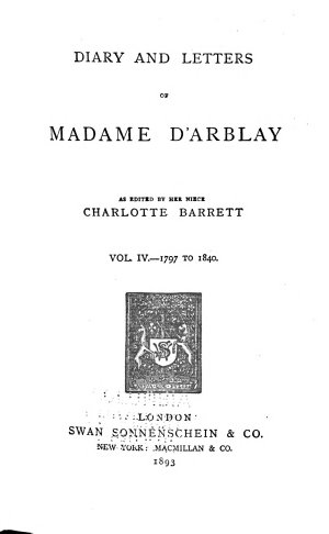 Diary and Letters of Madame D Arblay
