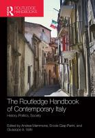 The Routledge Handbook of Contemporary Italy PDF
