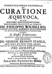 Dissertatio medica inauguralis de curatione aequivoca