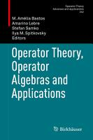 Operator Theory  Operator Algebras and Applications PDF