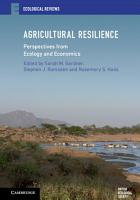 Agricultural Resilience PDF