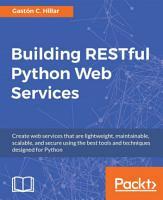 Building RESTful Python Web Services PDF