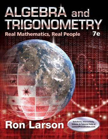 Algebra and Trigonometry  Real Mathematics  Real People PDF