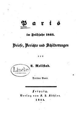 Paris im Fr  hjahr 1843 PDF