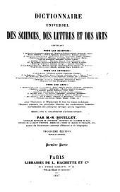 Dictionnaire universel des sciences, des lettres et des arts: Volume1