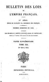 Bulletin des lois de la République Française: Volume 21