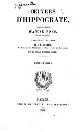 Oeuvres d'Hippocrate: Volume1
