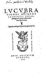 Lucubrationes aliquot ... ad linguae Latinae restaurationem
