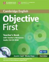 Objective First Teacher s Book with Teacher s Resources Audio CD CD ROM PDF