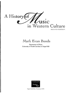 A History of Music in Western Culture Book