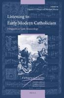 Listening to Early Modern Catholicism PDF