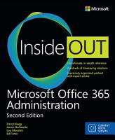Microsoft Office 365 Administration Inside Out  Includes Current Book Service  PDF