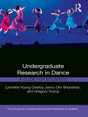 Undergraduate Research in Dance