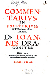 Commentarius in Psalterium et Psalmorum usus