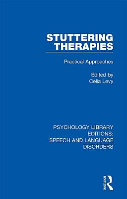 Stuttering Therapies