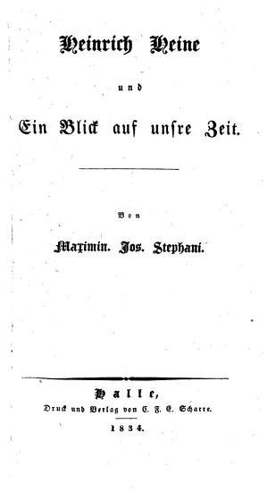 Heinrich Heine und ein Blick auf unsere Zeit PDF