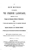 A New Method of Learning the French Language PDF