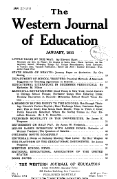 Western Journal of Education: Volume 16, Issues 1-6