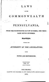 Laws of the Commonwealth of Pennsylvania: Dec. 7, 1802-Mar. 28, 1808