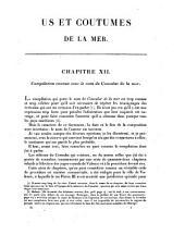 Us et coutumes de la mer: ou Collection des usages maritimes des peuples de l'antiquité et du moyen age, Volume2