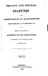 Private and Special Statutes of the Commonwealth of Massachusetts: Volume 4