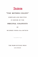 Anaheim   the Mother Colony   PDF