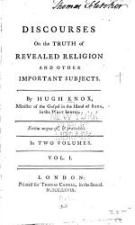 Discourses On The Truth Of Revealed Religion And Other Important Subjects Book PDF