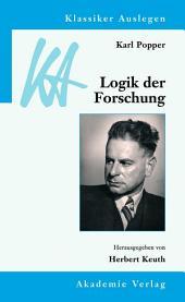 Karl Popper: Logik der Forschung: Ausgabe 3